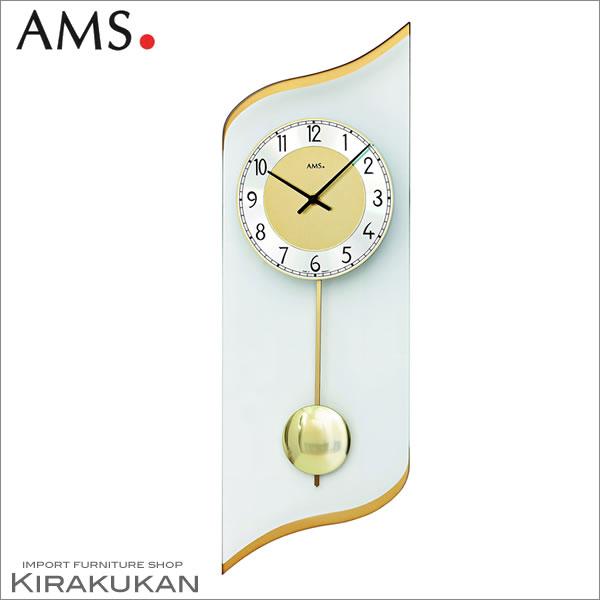輸入時計【AMS(アームス社ドイツ製).クォーツ・壁掛け時計 AMS-7437】 【送料無料】 おしゃれ ドイツ製 時計 掛け時計 置時計 クラシック 時計 モダン 時計 ヨーロッパ時計 ヘルムレ アンティーク時計