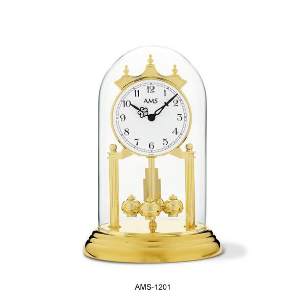 輸入時計【AMS(アームス社ドイツ製).クオーツ・アニバーサーリー置き時計 AMS-1201】 【送料無料】人気 おしゃれ ドイツ製 時計 掛け時計 置時計 クラシック 時計 モダン 時計 ヨーロッパ時計 ヘルムレ アンティーク時計