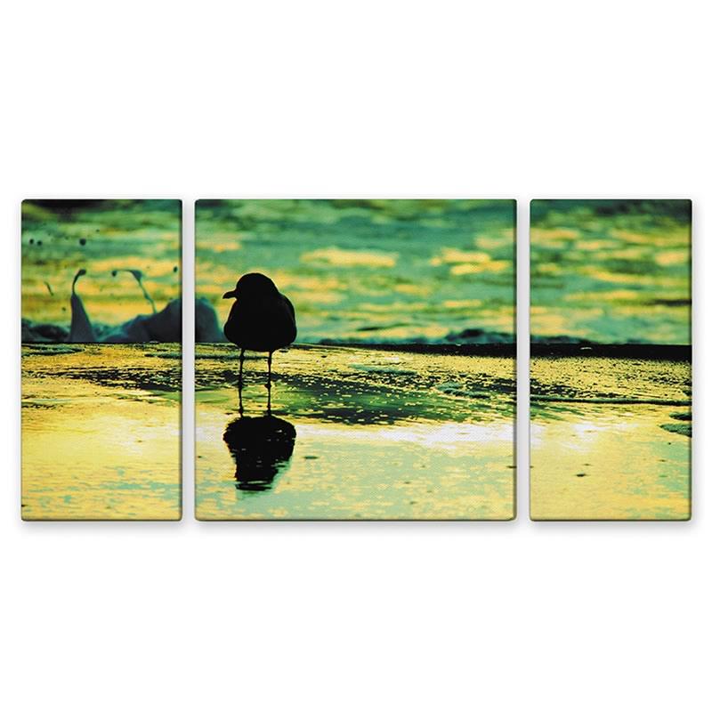 【クーポン配布中】アートパネル シーガル ウミネコ 海 風景 3枚セット アートフレーム 玄関に飾る絵画 おしゃれ 絵画 インテリア 壁掛け 額入り 額装込 リビング 玄関 額 プレゼント 額絵 ギフト ポスター 額入り 油絵