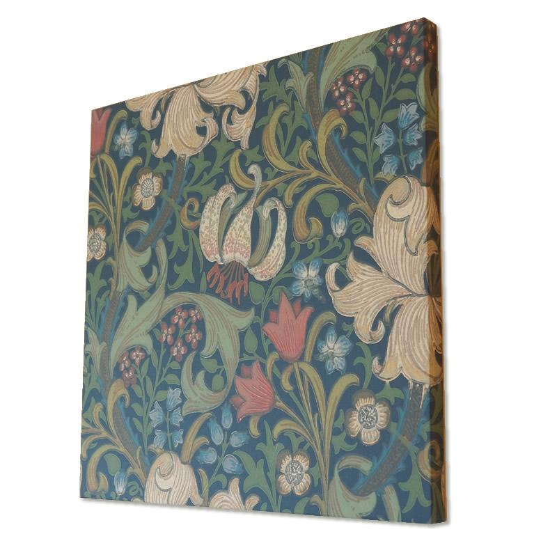 【クーポン配布中】ウィリアムモリス アートパネル「ゴールデンリリー Golden lily」高級木製パネル使用 絵画 インテリア 額入り おしゃれ 額絵 フレーム アートフレーム 輸入雑貨 絵画 壁掛け アンティーク調 ヨーロピアン インポート 玄関 リビング