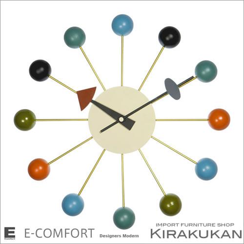 【クーポン配布中】デザイナー家具【ネルソン クロック No.9 Ball 】 人気 おしゃれ ブランド モダン 時計 アンティーク 時計 輸入時計 クラシック 時計 掛け時計 ヨーロピアン時計 インテリア雑貨