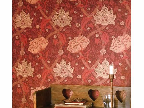 【クーポン配布中】ウィリアムモリス壁紙 【ウィンドラッシュW1】【wm8553-1】壁紙 ウォールペーパー クロス ファブリック 布 クラフトアーツ イギリス製 アンティーク クラシック モリス 壁紙 ウィリアム・モリス カーテン生地