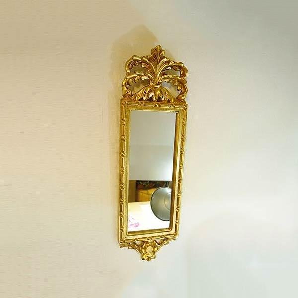 【クーポン配布中】イタリア製飾りミラー(ゴールド)【あす楽】 【送料無料】人気 おしゃれ イタリア製のおしゃれ ミラー 壁掛け アンティーク ミラー 壁掛け 鏡 全身鏡 姿見 ロココ クラシック 鏡