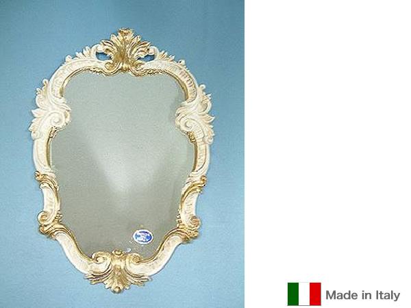 【クーポン配布中】鏡 イタリア製クラシックミラー(ホワイト)イタリア製のおしゃれなミラー 壁掛けが多く、鏡 アンティークやミラー 壁掛け 鏡 全身鏡 姿見・ロココ クラシック 鏡など豊富