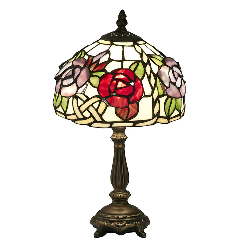 【クーポン配布中】ステンドグラス ランプ スタンド 立体の薔薇【送料無料】LED球使用可 ステンド ランプ テーブルランプ ランプシェード ステンドグラス 人気 おしゃれ 雑貨 ヨーロピアン アンティーク風 インポート 照明器具
