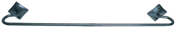 アイアン【ダイアモンド タオル レール ラージ】 人気 おしゃれ ロートアイアン フック スタンド ハンガー ラック 鉄 プレート ホルダー ハンドメイド カナダ製