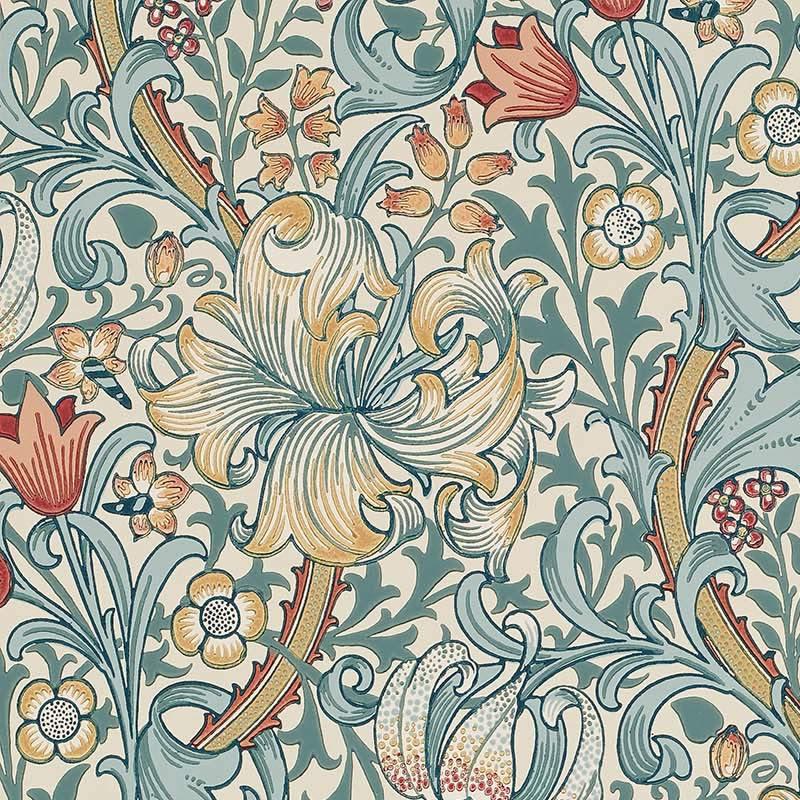 ラッピング ウィリアムモリス 壁紙 ゴールデン リリー Golden Lily