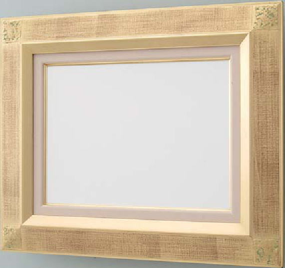 【送料無料】油絵用額縁 F20号平傾斜角紋 木製 箔張り 油絵・日本画に。