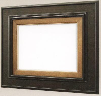 【送料無料】油絵用額縁 F10号キャンバス用正面型 鉄黒(同志舎) 木製