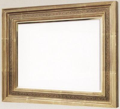 【送料無料】油絵用額縁 F10号キャンバス用珠回廊 金(同志舎) 木製
