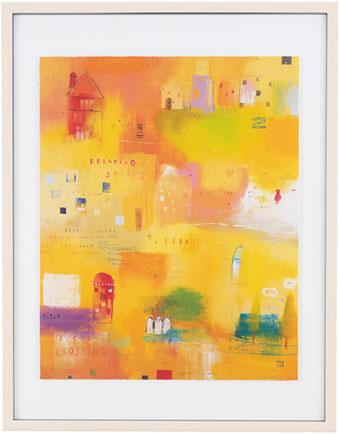【送料無料】HIBELL ART 版画抽象アートシリーズ[ EMMA DAVIS/DREAMING SPIRES ] HL-1350A版画作品でお部屋を洗練させるインテリアアート。