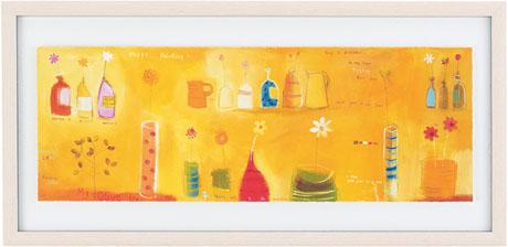 ハイベルアート 版画【送料無料】HIBELL ART 版画抽象アートシリーズ[ EMMA DAVIS/HAPPY PAINTING ] HL-1350A版画作品でお部屋を洗練させるインテリアアート。