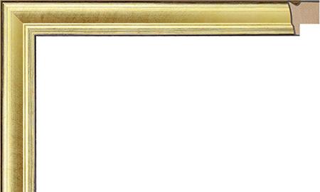 オーダーサイズ・オリジナルフレーム・別注フレーム・カスタムフレーム製作 LARSON-JUHL(ラーソン・ジュール) A-21026 カラー:金 縦+横の寸法(実寸・組寸)計 499mmまで