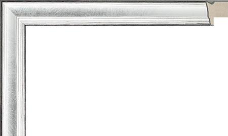 オーダーサイズ・オリジナルフレーム・別注フレーム・カスタムフレーム製作 LARSON-JUHL(ラーソン・ジュール) A-21027 カラー:銀 縦+横の寸法(実寸・組寸)計 499mmまで