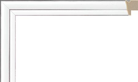 オーダーサイズ・オリジナルフレーム・別注フレーム・カスタムフレーム製作 LARSON-JUHL(ラーソン・ジュール) A-21028 カラー:白 縦+横の寸法(実寸・組寸)計 499mmまで