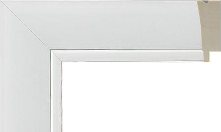 オーダーサイズ・オリジナルフレーム・別注フレーム・カスタムフレーム製作 LARSON-JUHL(ラーソン・ジュール) D-21032 カラー:白 縦+横の寸法(実寸・組寸)計 499mmまで
