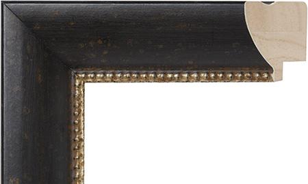 【送料無料】オーダーサイズ・オリジナルフレーム・別注フレーム・カスタムフレーム製作 MEGAWOOD LARSON-JUHL(メガウッド ラーソン・ジュール)F21018 カラー:黒/銀縦+横の寸法(実寸・組寸)計 499mmまで