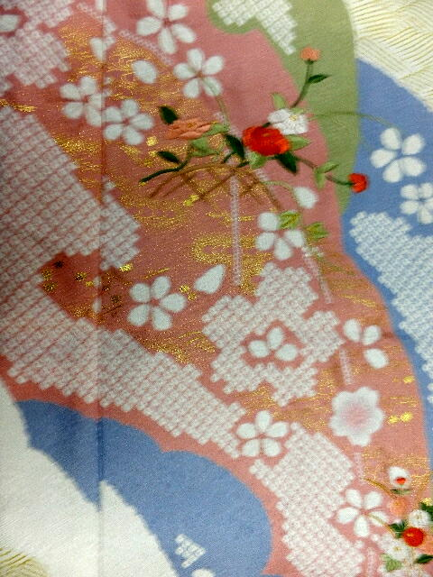 お正月特別価格 高級訪問着 入学式 卒業式 結婚式 特選正絹訪問着 グレー地に刺繍入り絞り柄no17qSVGzLUMp