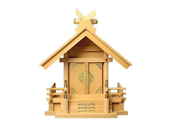 【 アウトレット 】神棚 板葺一社宮 妻入り型〈I-24〉 No.3
