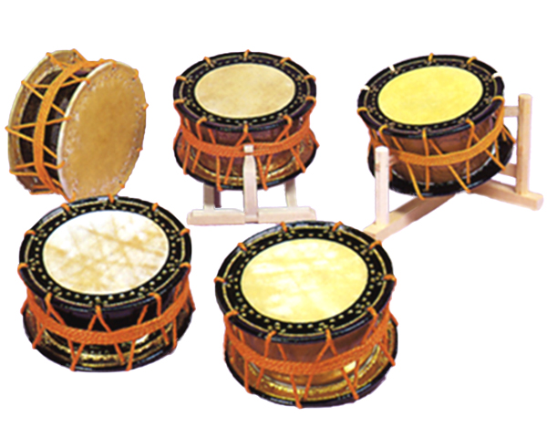 雅楽 締太鼓 紐締め式 膜鳴楽器 歌舞伎 能 太鼓 楽器 締太鼓 中級品 締太鼓革のみ