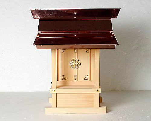 外祭用神棚 銅板葺折れ屋根宮(板宮)〈G-306 18号〉