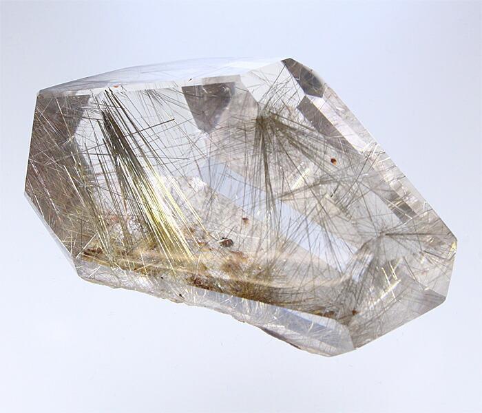 【天然石決算SALE】ルチルクォーツ 原石 ラフカット (ブラジル産) No.3