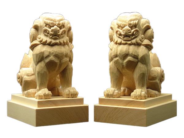 狛犬 木曽桧製 約10cm No.1