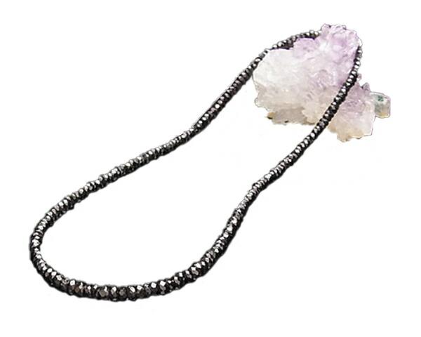 ネックレス ブラックスピネル φ4 40cm