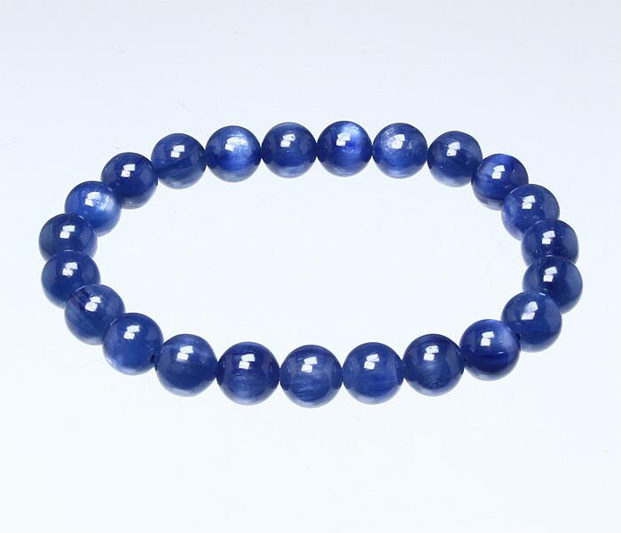 【天然石決算SALE】天然石 ブレスレット カイヤナイト SA 8φ 23玉 (ブラジル産) No.10