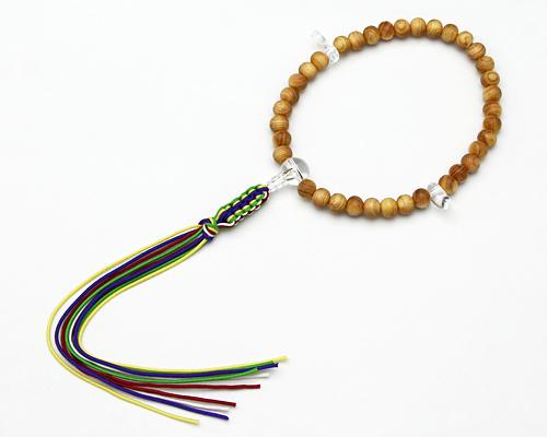 神道用珠数 桧 【女性用】 水晶仕立 五色紐