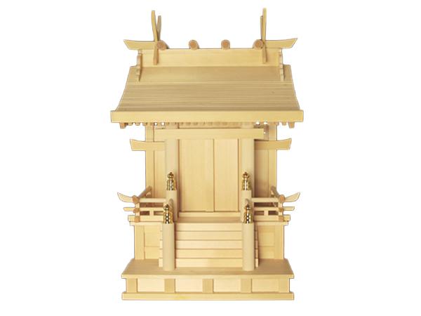【 アウトレット 】 神棚 板葺流造り 8寸 〈I-32〉 No.1