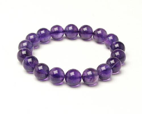 アメジスト アメシスト 紫水晶 天然石 パワーストーン ブレス ブレスレット アメジスト 11φ 18玉 No.66