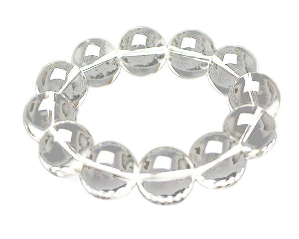 ブレスレット 高品質天然水晶 18φ 12玉