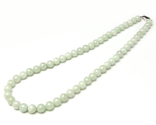 【天然石決算SALE】ネックレス ミャンマー翡翠 11φ 61cm