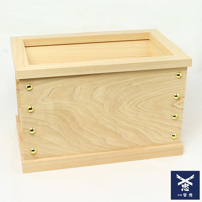 小型賽銭箱 桧 1尺5