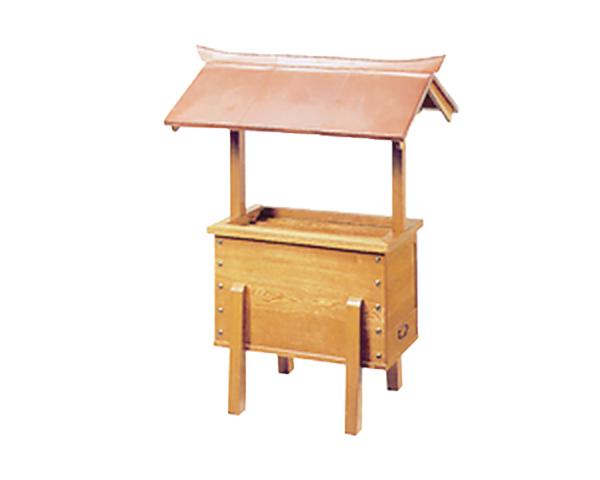 賽銭箱 屋根付 栓材 3尺 (No.85)
