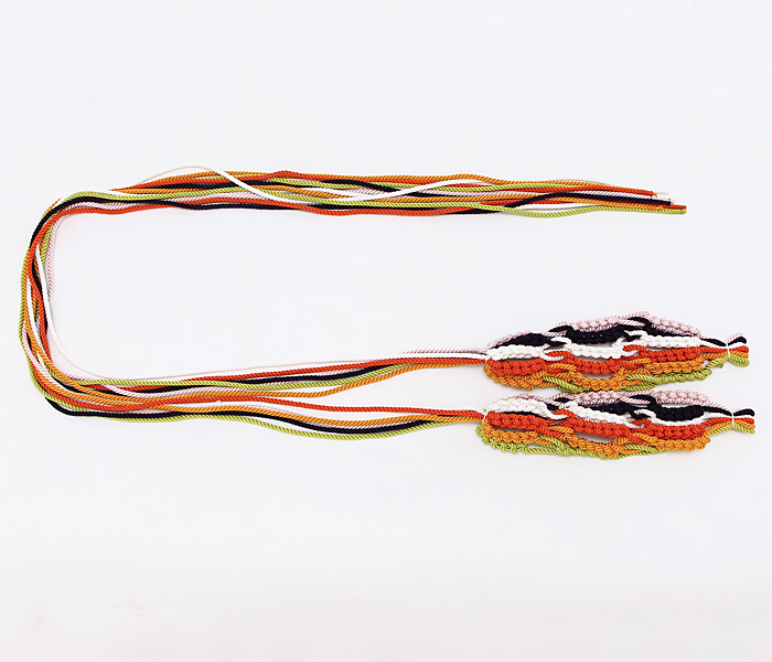 桧扇の飾紐 正絹 紐のみ