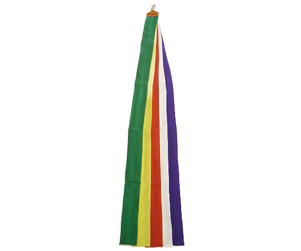 神楽鈴用5色布 正絹 150cm