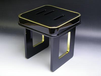 花月盃台 木製黒漆銅製こぼし入 6寸