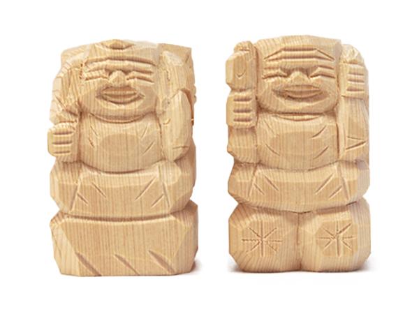 えびす様・大黒様 二福神像(並彫2寸5分)