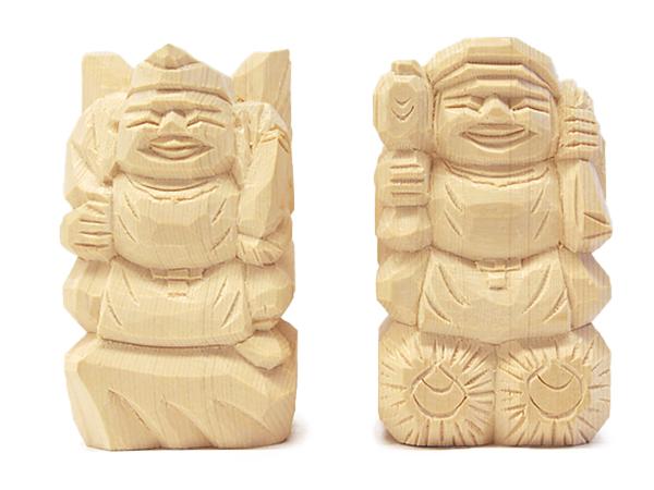 えびす様・大黒様 二福神像(並彫3寸5分)