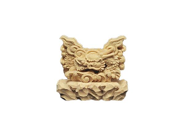 龍 上彫 神鏡 台 (木曽桧製) 神具 神棚 サイズ 1寸5分用