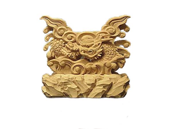龍 上彫 神鏡 台 (木曽桧製) 神具 神棚 サイズ 2寸5分用