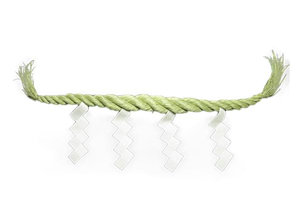 しめ縄 藁製鼓胴4尺 径60mm(切下げ4枚付き)