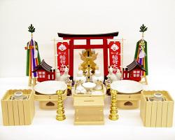 【神具セット】稲荷社用神具フルセット(大)《灯籠をコード式(大)に変更)