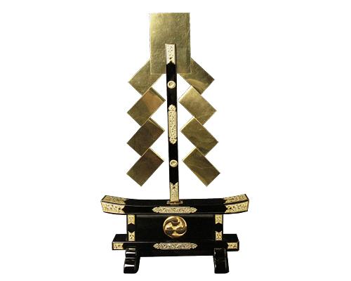 金幣一本立腰付 左三巴紋付 串高75cm