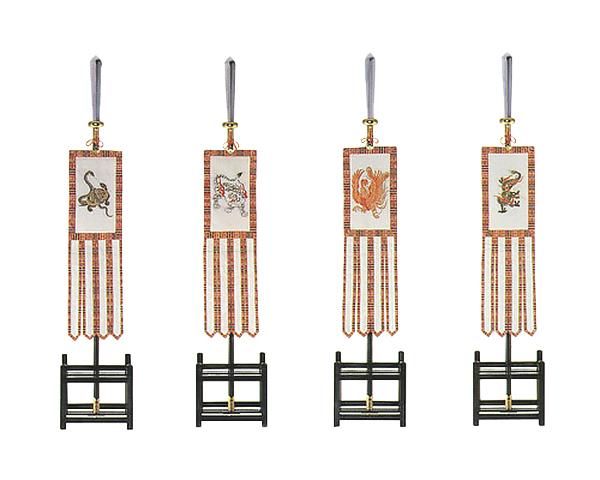 四神旗 フルセット (本絹裏付仕立)