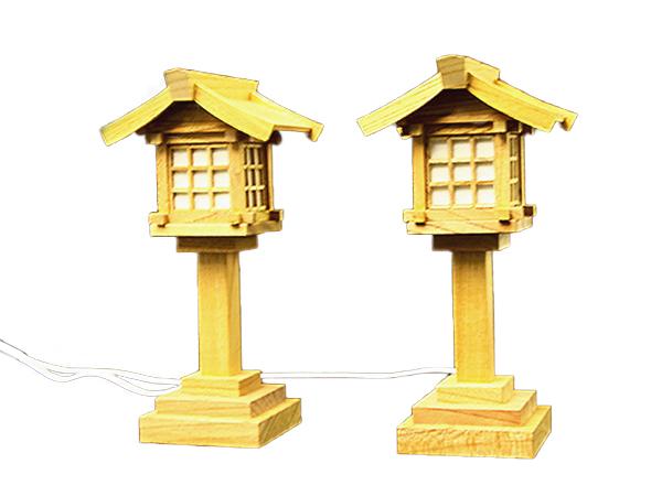 神棚 灯篭 LED LED灯籠 欅コード式(小)