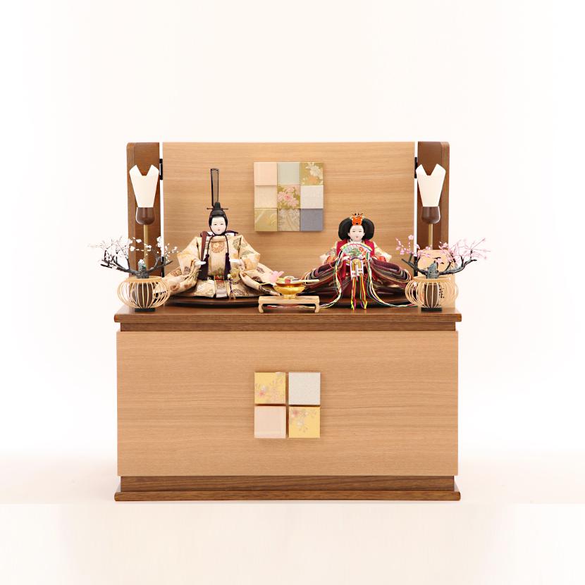 雛人形 コンパクト 収納飾り 芥子 丸花唐草 ここのえ収納飾 ひな人形