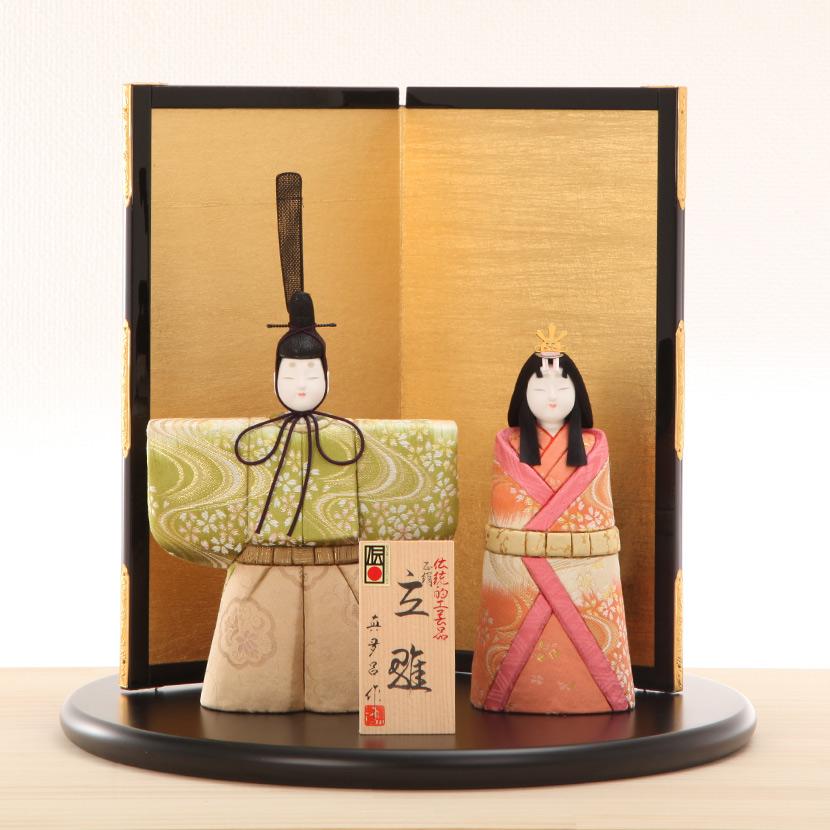 雛人形 木目込み 真多呂 光明〆切 立雛飾 平飾り